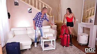 Vacation rental defloration & deep pussy fuck with horny Cristina Miller