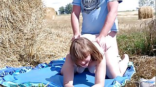 Public sex in front of the tractor driver