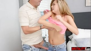 Dumb stepdaughter teen gets schooled by her stepdad