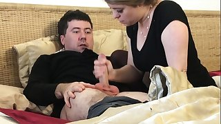 Stepmom gives stepson a handjob after husband dies - Erin Electra